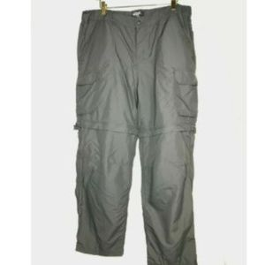 REI Hiking Pants Grey Nylon Shorts Pants Zip Off